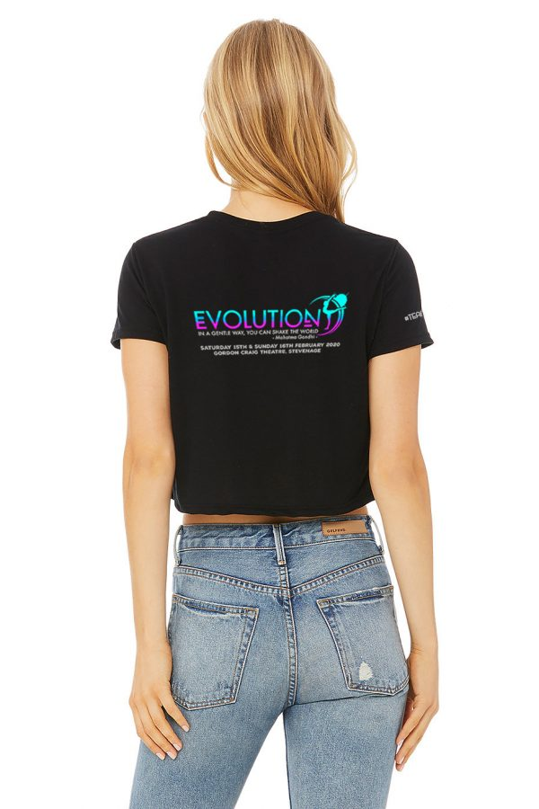 Cropped t-shirt (model) – back